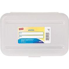 Staples® Pencil Box, Translucent Clear
