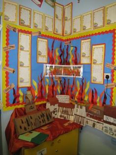 The Great Fire of London classroom display
