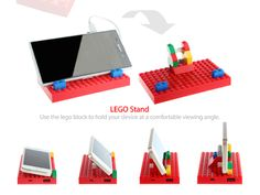 Awesome LEGO Portable Charger Lets You Get Creative, Doubles As A Phone Stand - DesignTAXI.com
