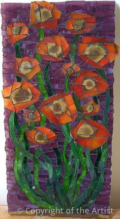 "Maplestone Gallery  ~  Contemporary Mosaic Art  ""Flowers""  by Jane Mullis"
