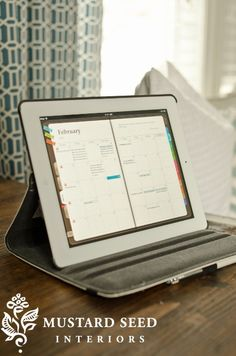 Planner Plus app for iPad... I love a tangible paper planner, but this works just as well!
