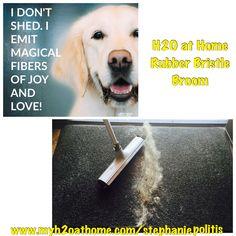 Rubber bristle broom H2O at Home www.myh2oathome.com/stephaniepolitis