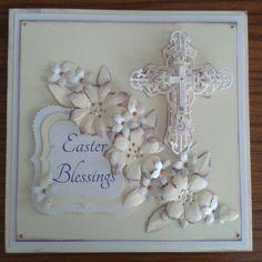 Handmade Easter Cards | Easter Blessings Handmade Card, spellbinders crosses , tim ... | Ea...