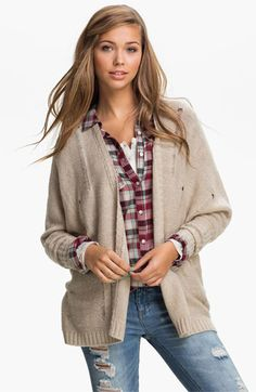 Love by Design Distressed Cardigan (Juniors) available at #Nordstrom