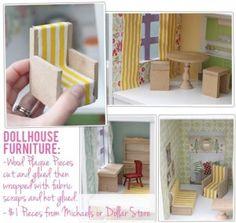 The Busy Budgeting Mama: Diy Dollhouse Furniture Ideas…best I've Seen So Far!
