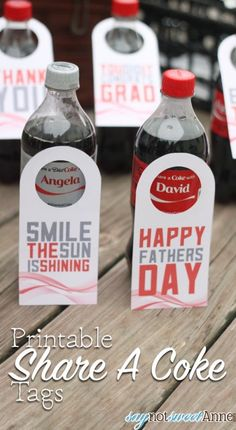Printable Soda Bottl