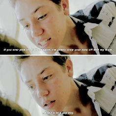"""""""My favourite rumour of season 5 so far is that Carl's going to be bisexual which I'm totally down for. I hope it does turn out to be true. #carlgallagher…"""""""
