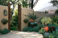 Spanish Influence Courtyard Garden