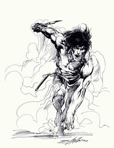 Neal Adams Tarzan: Charge! Comic Art