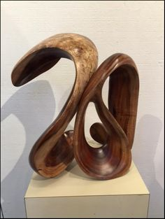 "Steve Turnbull ""Unity"" wood abstract sculpture - Lahaina Galleries - visit www.lahainagalleries.com"