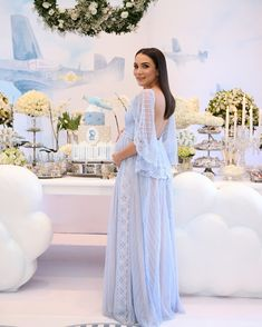 Baby shower outfit maternity dresses Ideas for 2019 Maternity Gowns, Stylish Maternity, Maternity Fashion, Shower Outfits, Baby Shower Dresses, Shower Baby, The Dress, Baby Dress, Vestidos Para Baby Shower