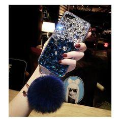 Diamond Gradient Color Plush Ball Phone Case for iPhone Iphone Cases Bling, Girly Phone Cases, Cool Iphone Cases, Phone Covers, Popsockets Phones, Aesthetic Phone Case, Phone Companies, Cute Keychain, Newest Cell Phones