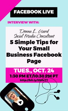 We are gonna have suchhhh fun! Donna and I will be Live Tuesday at 1:30 p.m. EST and we're talking about Facebook and 5 Simple Tips for Your Small Business Page. Don't miss it! #Business #BusinessPlanner #PrettyandSmartBusinessPlanner