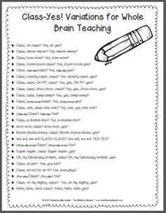 Whole Brain Teaching: Class-Yes! from The Reflective Educator on TeachersNotebook.com (5 pages)