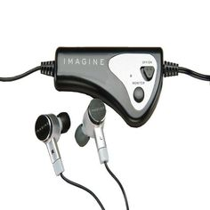 IMAGINE's active noise-canceling ear buds reduce distracting background noise by while offering superior sound. These earbuds make the perfect companion to your iPod or player.Frequency: power output: aaa batteryBattery life: Up to 30 hoursModel: ounces. Best Noise Cancelling Earbuds, Audio Store, Cool Bluetooth Speakers, Background Noise, Best Headphones, Noise Reduction, Consumer Electronics, Mp3 Player, Ipod