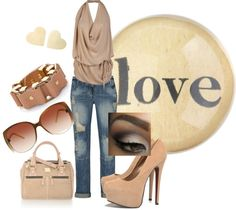 """Nude"" by hollisgena on Polyvore"
