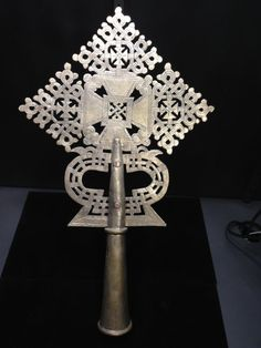 Ethiopian Silver Coptic Cross Scepter by WorldofBacara on Etsy $175.00