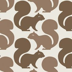 a room with squirrel wallpaper? a huge MUST.