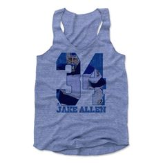Jake Allen Game B St. Louis Officially Licensed NHLPA Womens Tank Top S-XL