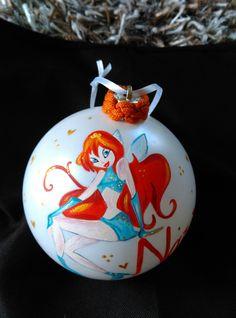 Χριστουγεννιάτικη μπάλα ζωγραφισμένη στο χέρι! Winx!