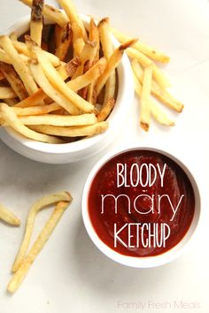 Try this Bloody Mary Flavored Ketchup with french fries, tater tots, burger, steaks and hash browns. I even used the leftovers on my morning eggs.