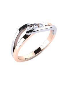 Anillo compromiso Oro Blanco / Rosa con diamantes