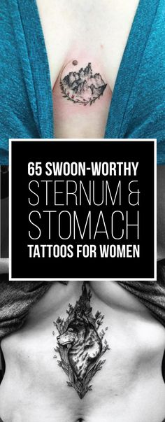 65 Swoon-Worthy Sternum & Stomach Tattoos for Women | TattooBlend