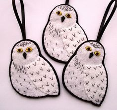 fun little christmas tree ideas. love these Harry Potter Owls...