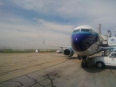 On the gate at CMH.  Columbus skyline under the wing. Respects to Captiain Eddie. http://1502983.talkfusion.com/es/