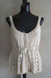 #84 Sexy Organic Cotton Camisole PDF Knitting Pattern #SweaterBabe.com #knitting