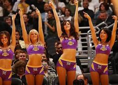 cheer for the Lakers! Panthers Cheerleaders, Lakers Girls, Cheerleading Photos, Professional Cheerleaders, Nfl, Ice Girls, Sporty Girls, Los Angeles Lakers, Sports Women