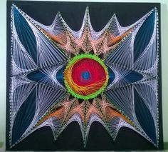 Quadro String Art - Fluorescente. 55x55