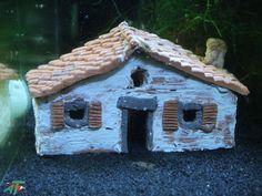 Angebot-Garnelen Land  Haus - Höhle - Dekoration - Ton - Garnelen - Fische