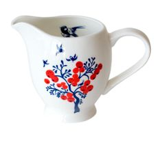 Milk it - Lovely little milk jug from illustrator Louise Wilkinson. Would look great on a shelf if it is too pretty to risk in their trembling, pre-caffeinated hands …