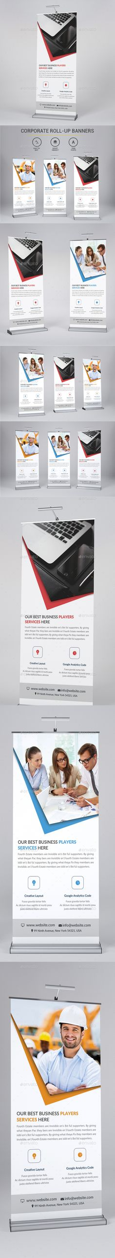 Corporate Rollup Banner Template PSD #design Download: http://graphicriver.net/item/corporate-rollup-bannerg/13833687?ref=ksioks