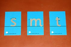 How to Teach Concepts and Vocabulary to Your Preschooler Using the Three-Period Lesson...Sandpaper letter.