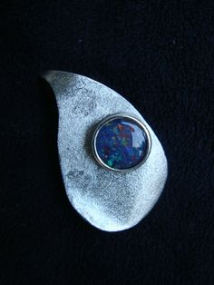 Zilveren hanger ..abstract met een Opaal Triplet door qualityopal, €89.95