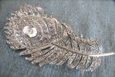 This could be pretty, if I could find a barrette like this to match those earrings I really want you to get