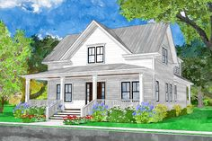 Cottage House Plans, Country House Plans, New House Plans, Dream House Plans, Cottage Homes, Dream Houses, Colonial House Plans, Southern Living House Plans, Dream House Interior