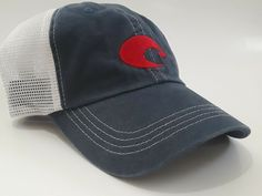 7ec00c79 COSTA DEL MAR TRUCKER CAP HAT blue/white adjustable / new without tags  #fashion