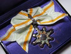 Rare WOMEN'S 7th CLASS SILVER SACRED TREASURE MEDAL JAPANESE JAPAN BADGE