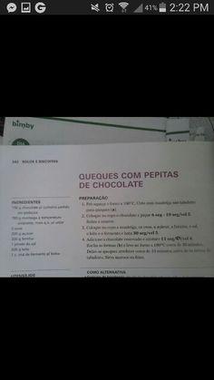 Queques com pepitas chocolate