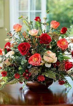 Summer Flower Arrangements, Silk Floral Arrangements, Vase Arrangements, Beautiful Flower Arrangements, Flower Centerpieces, Summer Flowers, Flower Decorations, Fake Flowers, Artificial Flowers