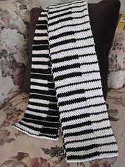 Ravelry: Double Knit Piano Scarf pattern by Judy Lamb