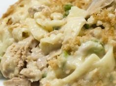 This tuna noodle casserole is super easy - just 3 simple steps and ready in about 30 minutes!