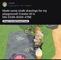 Animal Crossing Memes, Animal Crossing Qr Codes Clothes, Animal Games, My Animal, Besties, Ac New Leaf, Chalk Design, Motifs Animal, Chalk Drawings