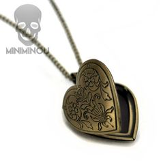 Colar relicário Heart Miniminou