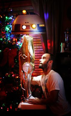 'A Christmas Story' Inspired Star Wars Droid Leg Lamp -- amazing