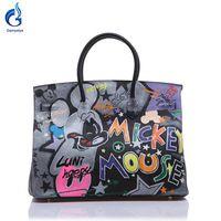30452a70ff ... bao Store on Aliexpress.com - 2018 Hot bags handbags women famous  brands Genuine Leather Handbag Women Messenger Bags Hand Painted Custom  name Design ...