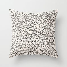 A Lot of Cats Throw Pillow by Kitten Rain | Society6